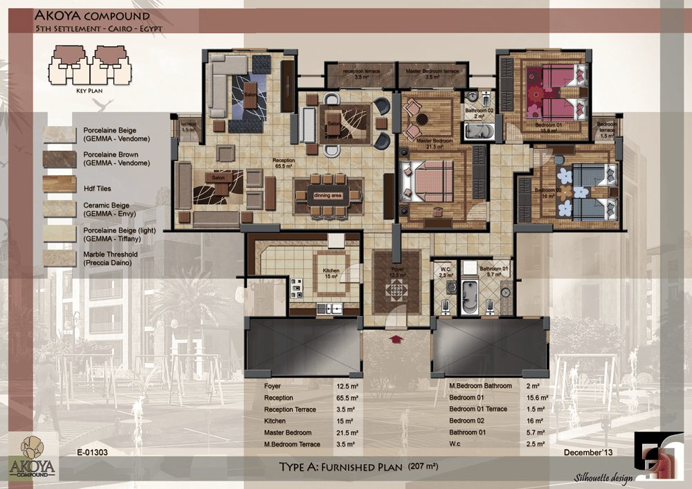 00-MAIN-sheet-type-A-UNIT-1-furnished-plan