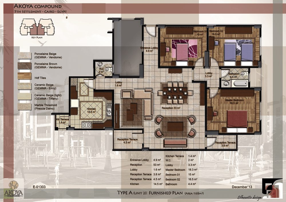 00-MAIN-sheet-type-A-UNIT-2-furnished-plan